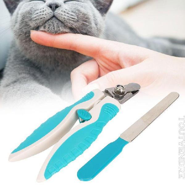 Kit coupe-ongles en métal d'animaux de compagnie ciseaux de