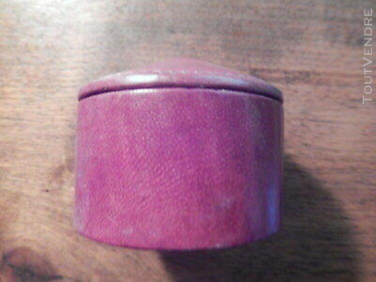 Lot de 4 originales petites boîtes en cuir fabrication