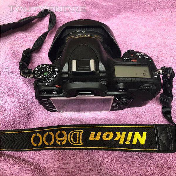 Nikon d600 + nikkor 24-85 + carte sd 32 go (complet !)