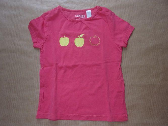 Tee shirt rose obaïbi love ici en taille 3 ans occasion,