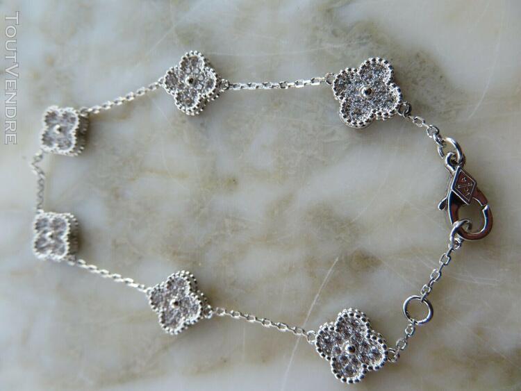 Van cleef & arpels vintage alhambra wg and diamond 6 motif b