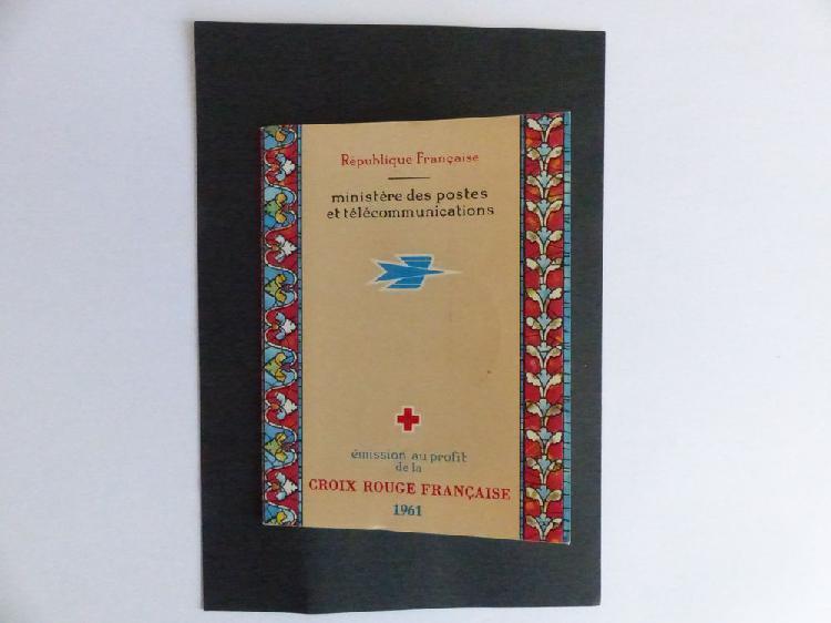 Carnet croix rouge de 1961 neuf ** avec cachet de neuf, le