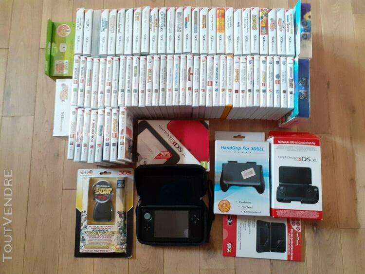 Console nintendo 3ds xl, 70 jeux 3ds/ds, accessoires