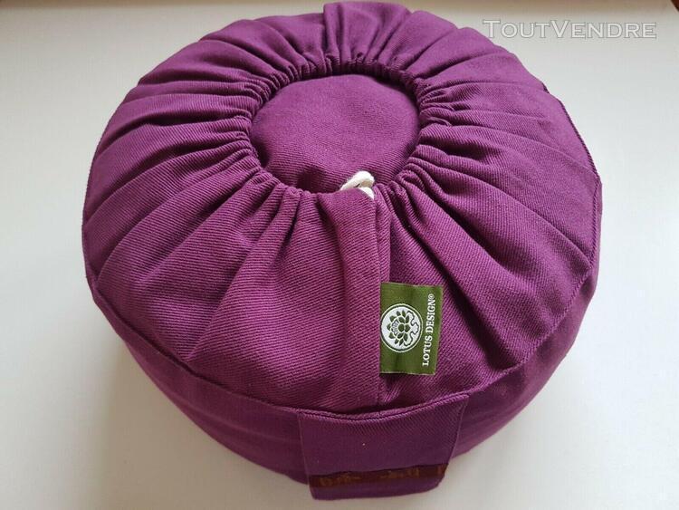 Coussin de méditation zafu violet garnissage sarrasin