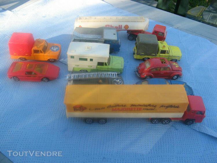 Lot de petite voitures majorette, jouet des annees 70, be