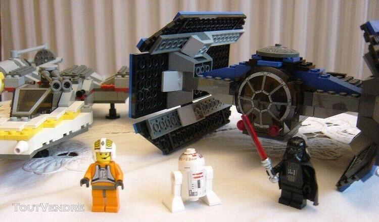 Lot rare lego star wars set 7262 vaisseau tie fighter et y w