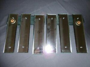 Plaque de proprete verre miroir blanc trois paires