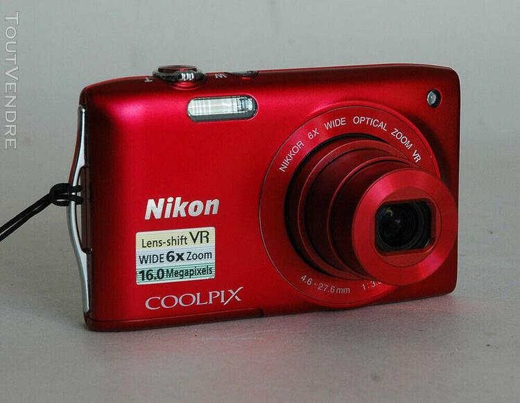 Compact numérique nikon coolpix s 3300 -rouge en parfait