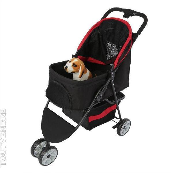 Portable 3 roues chat chien chiot poussette pliant transport