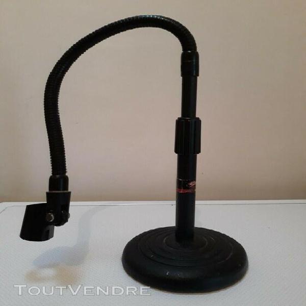 Pied de micro de table avec perche embase lourde hauteur