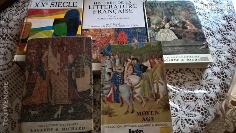 Livres collection littéraire lagarde & michard