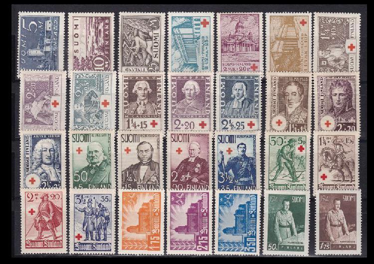 Timbres finlande 1930-51 fin de collection unique/collector,