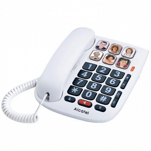 Téléphone fixe pour personnes âgées alcatel tmax 10 led