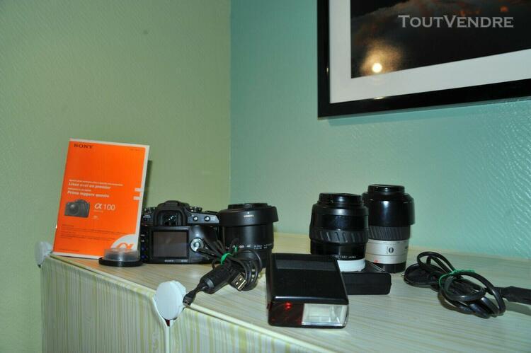 Appareil photo numérique reflex sony dslr alpha 100 + 4