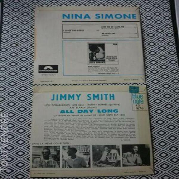 Jimmy smith blue note + nina simone lot de 2 disques 45t ep