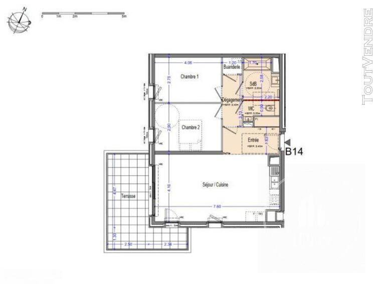 Marseille vente t3 de 72 m2 + 17.48 m2 de terrasse