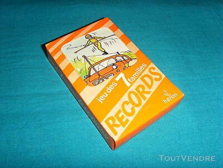 Anciens jeu de cartes à jouer 7 familles sept records