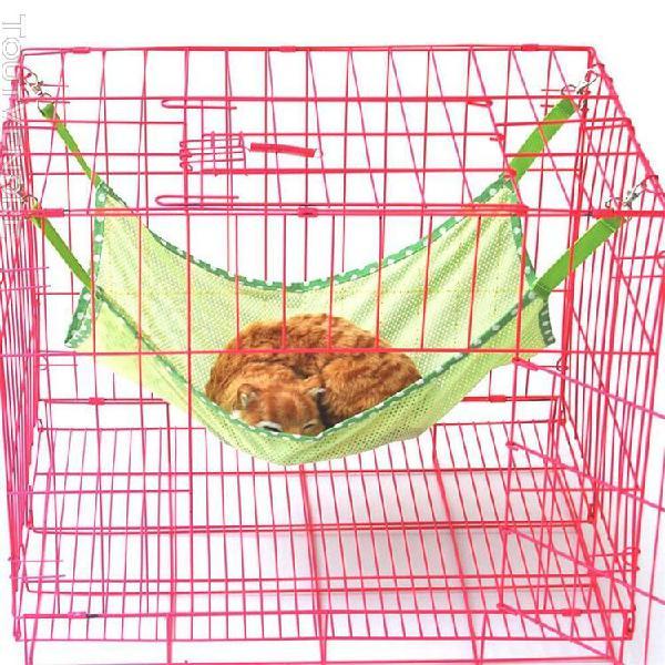 Cage pour animaux de compagnie hamac chat lapin chien maille