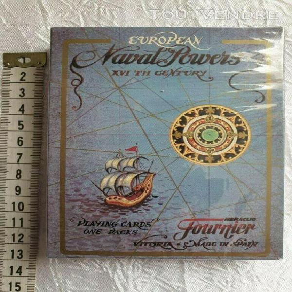 Cartes à jouer naval powers xvi ème siècle 54 cartes