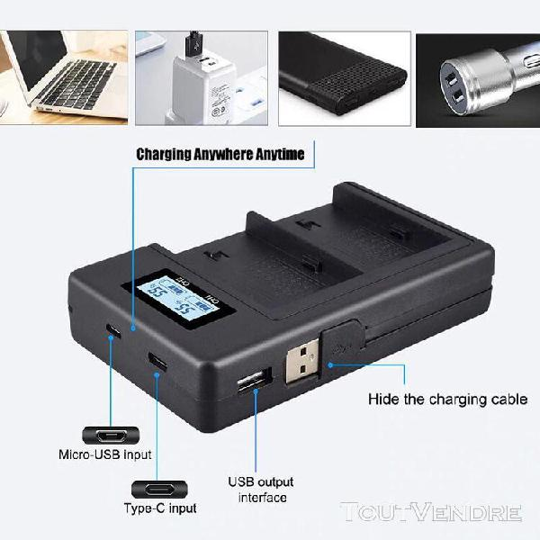 Chargeur usb batterie pour sony np-f960 np f970 f930 f950 f7