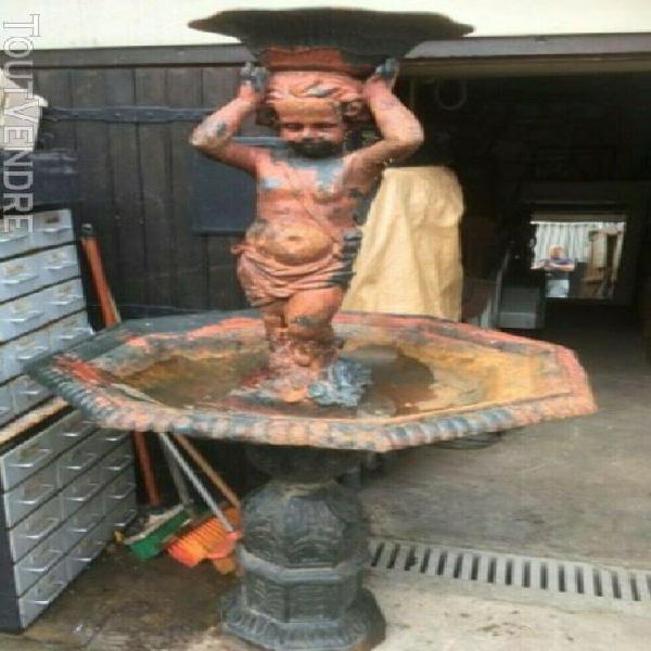 Fontaine de jardin en fonte sur deux niveaux superbe!!!!!!!
