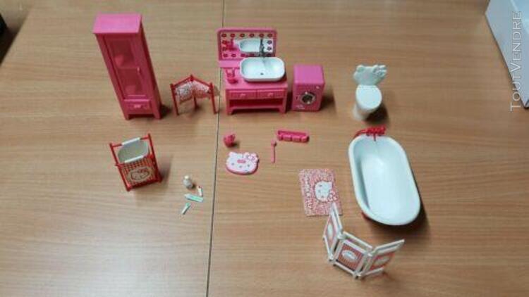 Hello kitty salle de bain bathroom mobilier maison poupée