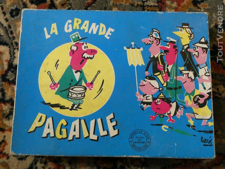 Lot 5 jeux anciens loto, cubes + la grande pagaille (dessin