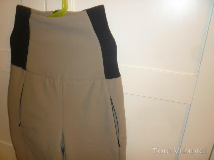 Pantalon ski fendi femme gris clair - neuf avec étiquette