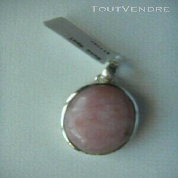 Pendentif argent opale rose -dimension 2.5 cm
