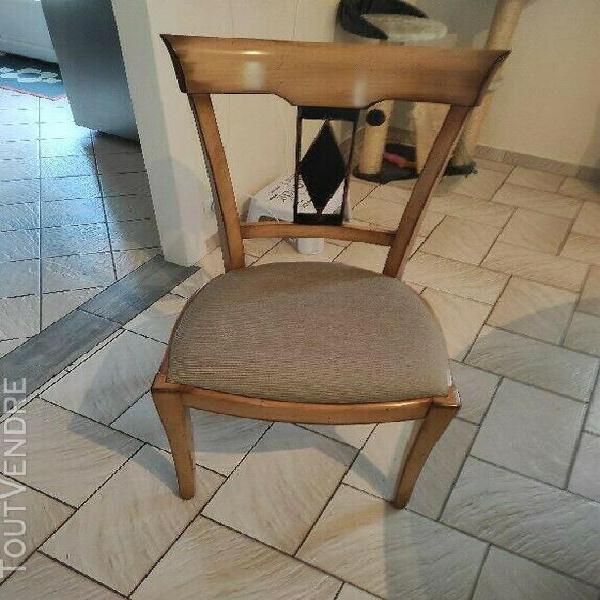 Table et 4 chaises salle à manger roche bobois avec