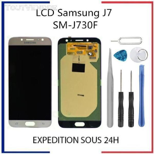 Vitre tactile + ecran lcd samsung galaxy j7 2017 j730 or + o
