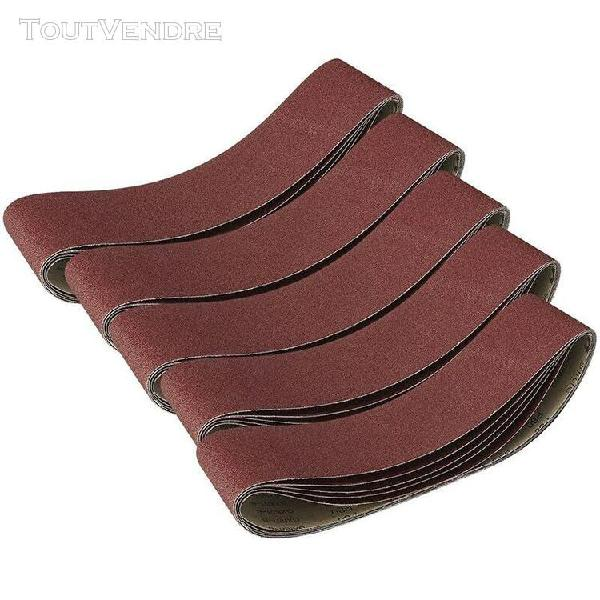 6 pièces bandes abrasives pour meulage polissage 915x100mm