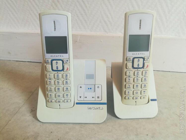 Telephone-répondeur alcatel versatis f-230 duo