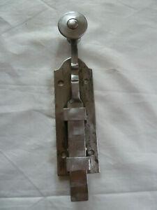 Ancien verrou targette loquet de porte fer forge 19 eme