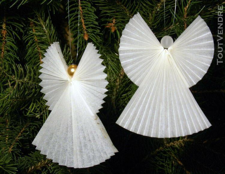 Anges de noël blanc anciens décoration pour sapin de noël