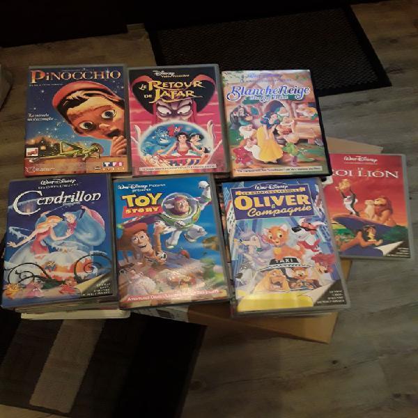 Lot de 28 cassettes video walt disney originales occasion,