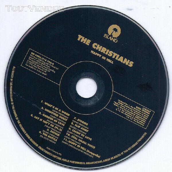 The christians - happy in hell - cd album 11 titres 1992