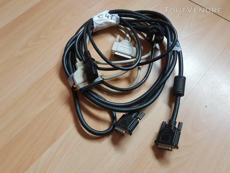 3 cables informatique pour ordinateur pc