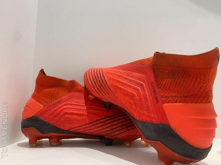 Adidas predator 19.1 fg chaussures de football rouge (taille