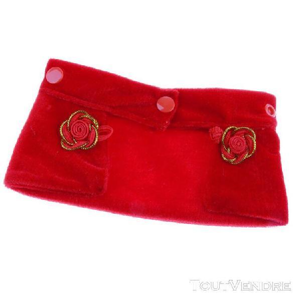 Chinois joyeux nouvel an robe de chat chiot chien rouge chie