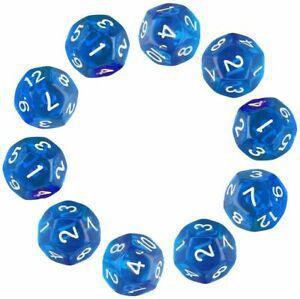 D12 dés,10 pièces polyédriques dés avec 12 faces