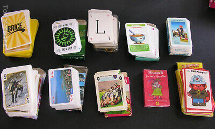 Lot de 11 jeux de cartes publicitaires