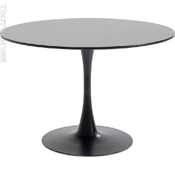 Table schickeria noire 110cm kare design