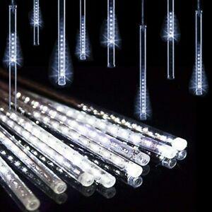 10 tubes 30cm led météore pluie lumineuses guirlandes