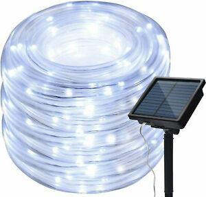 Bande led lumières solaire extérieures,kingcoo étanche
