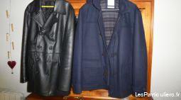 Manteau cuir homme + caban homme