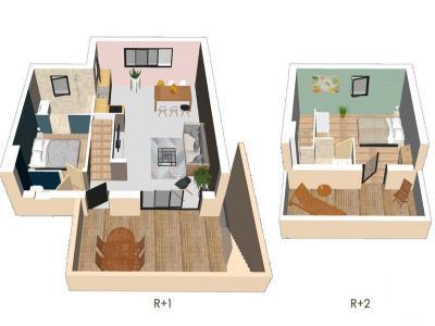 Appartement à vendre agde 3 pièces 58 m2 herault