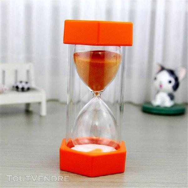Enfants hourglass minuteur horloges de sable minuterie lunet