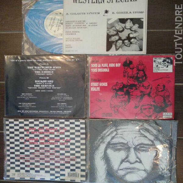 Lot 5 vinyls 45t punk ska reggae