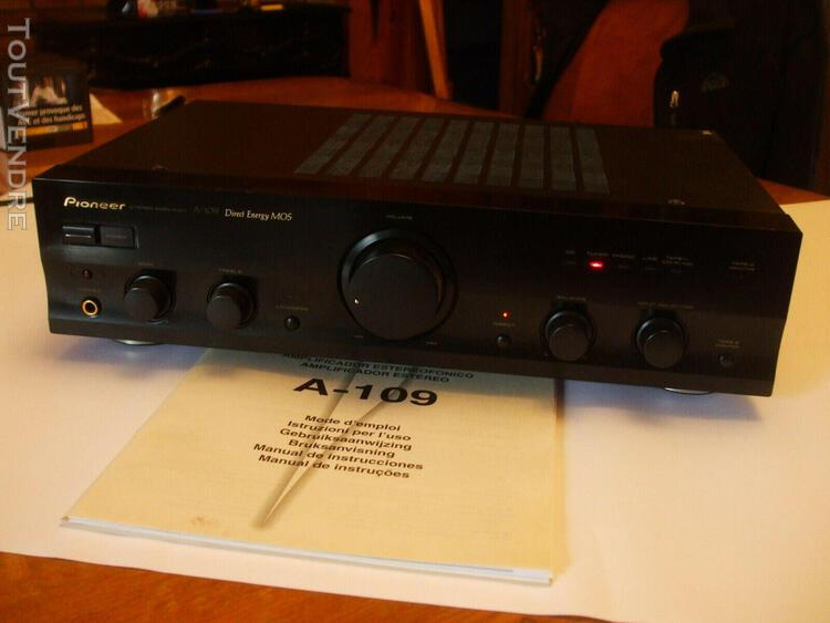 Amplificateur hifi pioneer a-109 (2 x 40 w) en très bon é